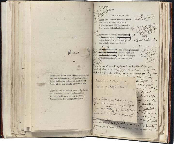 """la copia de """"I fiori del male"""" annotata da Ch.Baudelaire... di carta, certo!"""