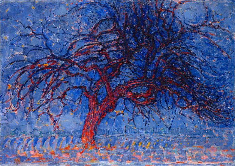 albero rosso, P.Mondrian