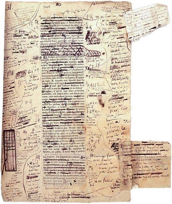 Bozze di H. de Balzac per Eugenie Grandet (1833)