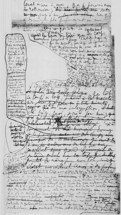 manoscritto de Il tempo ritrovato di Marcel Proust