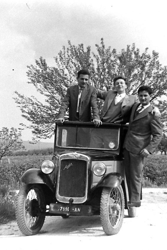 Giorgio, GC e Lamberto sull'auto